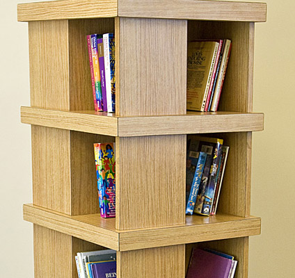 Tall freestanding bookcase