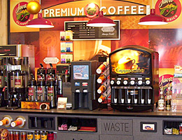 Convenience Store Coffee Counter