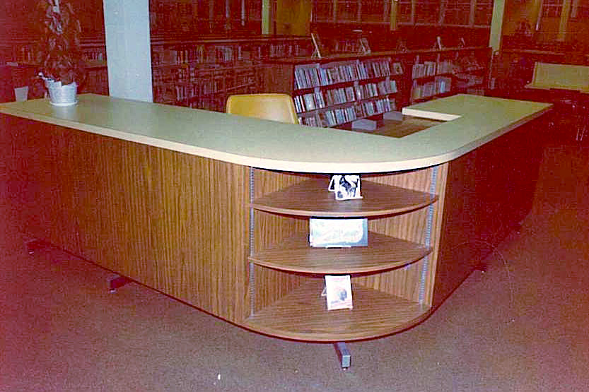 East Ridge High School Woodbury http://fellingproducts.com/library_furniture.html