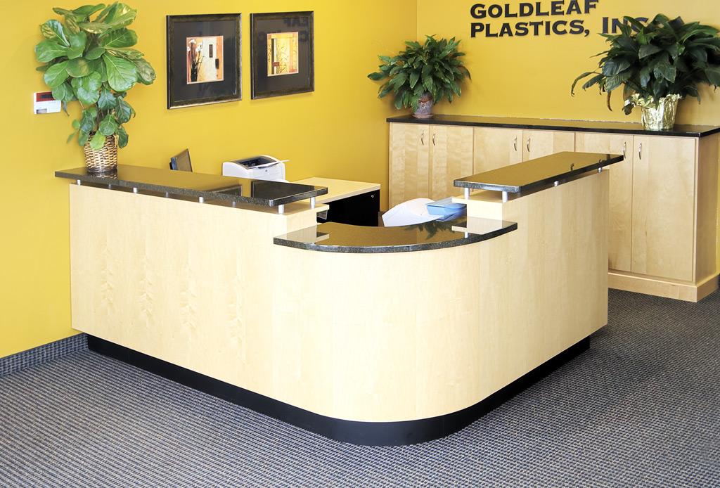 Reception Counters Desks Furniture Goldleaf Plastics