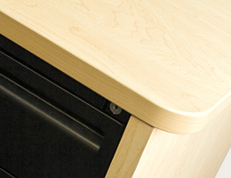 Work Surface with Panel Leg Support